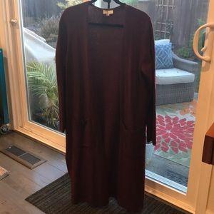 Loft outlet lounge long sweater/cardigan coat  M